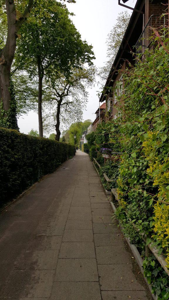 Entlang der Elbe in Hamburg, Ottensen