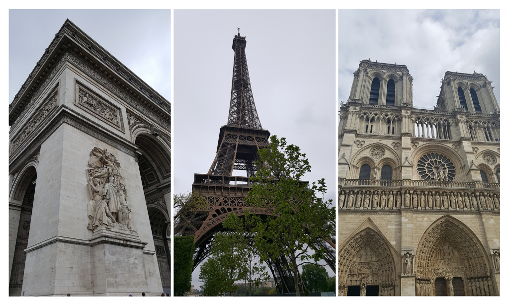 Paris - die populären 3: Triumphbogen - Eiffelturm - Notre Dame